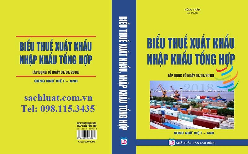 Sách Biểu thuế xuất nhập khẩu 2018