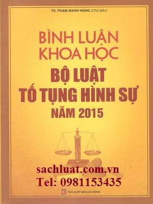 Bình luận khoa học bộ luật tố tụng hình sự năm 2015