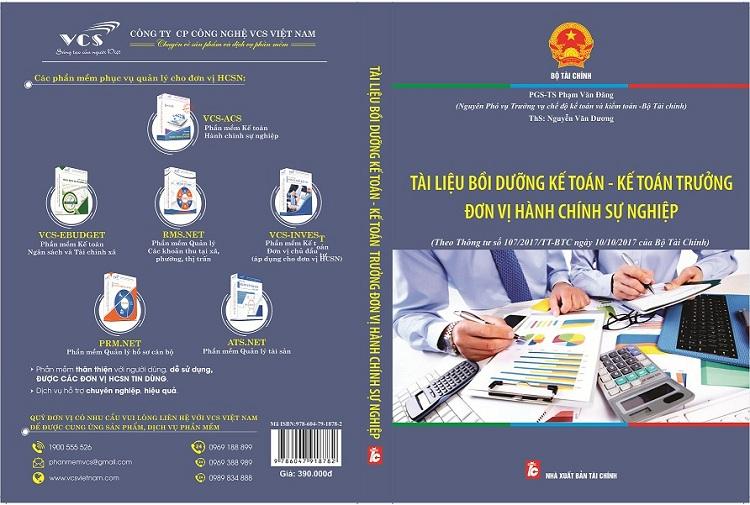 Sách Tài liệu bồi dưỡng kế toán - kế toán trưởng đơn vị hành chính sự nghiệp