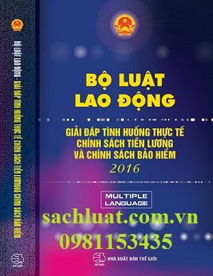 Bộ luật lao động giải đáp tình huống thực tế chính sách tiền lương và chính sách bảo hiểm 2016 ( Việt - Anh - Hoa)