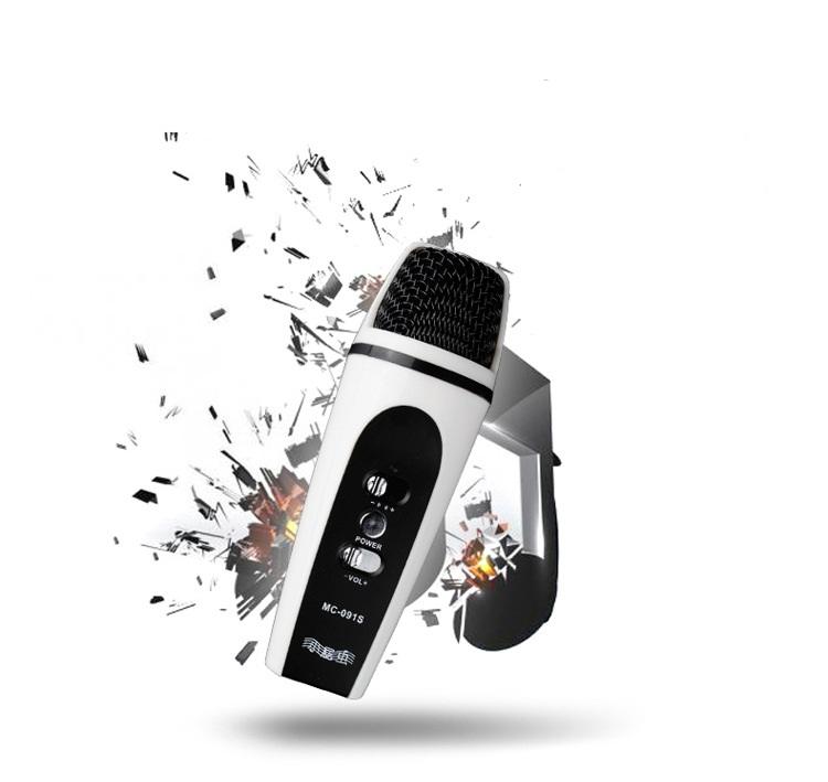 Mic hát karaoke đa năng dùng cho điện thoại, máy tính bảng, laptop