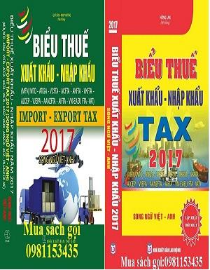 Sách biểu thuế xuất nhập khẩu song ngữ 2017
