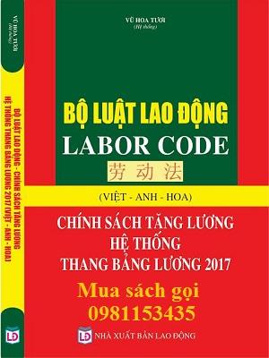 Sách bộ luật lao động Việt Anh Hoa 2017