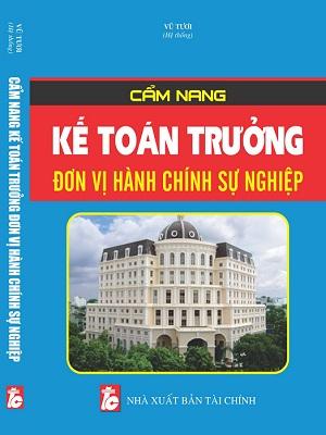 Sách Cẩm Nang Kế Toán Trưởng Đơn Vị Hành Chính Sự Nghiệp