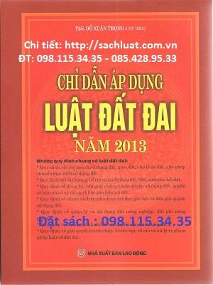Sách chỉ dẫn áp dụng luật đất đai năm 2013