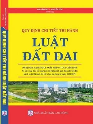 Sách quy định chi tiết thi hành luật đất đai
