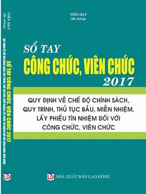 Sổ tay công chức viên chức 2017