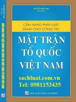 Cẩm nang pháp luật dành cho công tác mặt trận tổ quốc Việt Nam