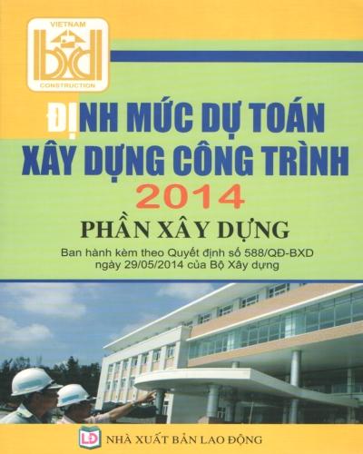 Định mức dự toán xây dựng công trình 2015 - phần xây dựng