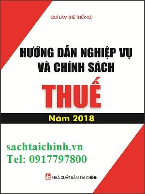 Hướng Dẫn Nghiệp Vụ Và Chính Sách Thuế Năm 2018