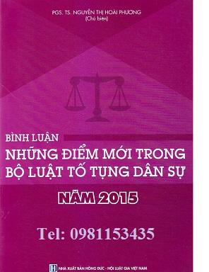 Sách  Bình luận những điểm mới trong Bộ luật tố tụng dân sự năm 2015
