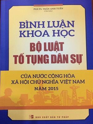 Sách Bình Luận Khoa Học Bộ Luật Tố Tụng Dân Sự 2015