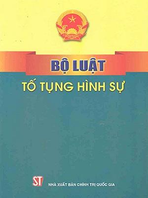 Sách Bộ Luật Tố Tụng Hình Sự 2015