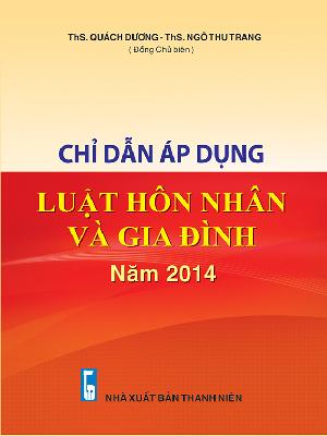 Sách Chỉ Dẫn Áp Dụng Luật Hôn Nhân và Gia Đình Năm 2014