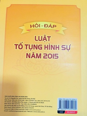 Sách Hỏi Đáp Luật Tố Tụng Hình Sự Năm 2015