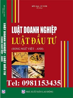 Sách Luật doanh nghiệp - Luật đầu tư song ngữ Việt - Anh