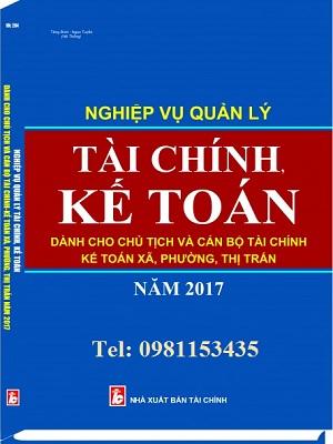 Sách nghiệp vụ quản lý tài chính, kế toán xã, phường, thị trấn 2017