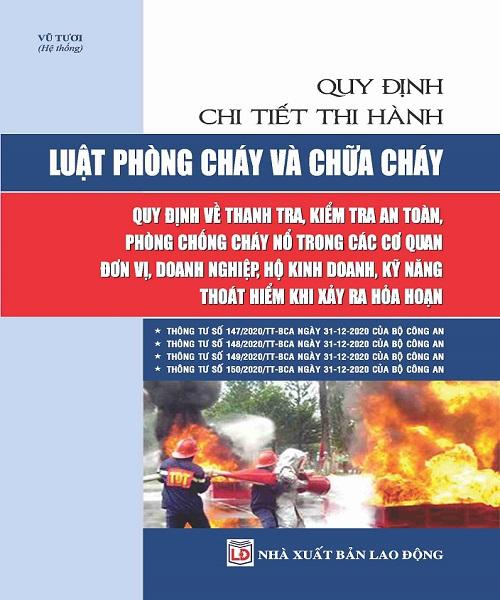 Sách Quy Định Chi Tiết Thi Hành Luật Phòng Cháy Và Chữa Cháy